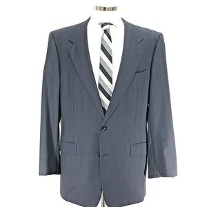 Hickey Freeman Boardroom 44L Wool Cashmere Blazer